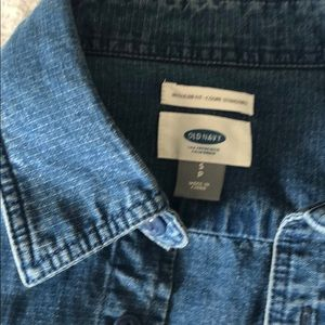 Old Navy Tops - Oversized blue denim button up